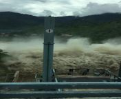 Pandoh Dam Gates Open   Flood Like Situation   Himachal   Scary from himachal girl